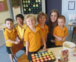 Ms Baillie and her enthusiastic bakers